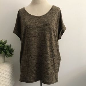 Soft Joie brown knit short sleeve top